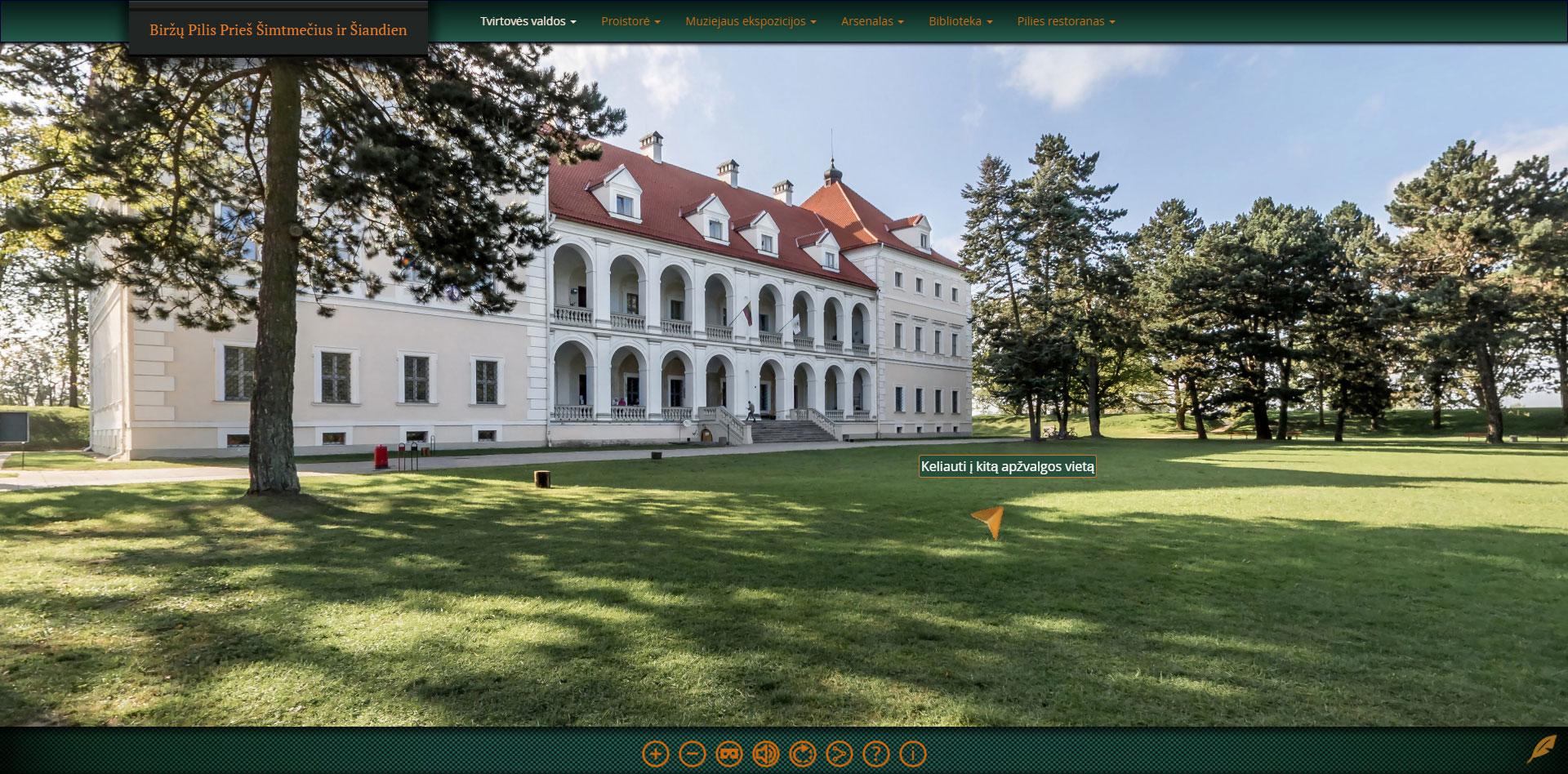 Biržų pilis virtuali ekskursija 3d turas
